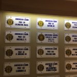 American Legion plates are displayed in The Flesk