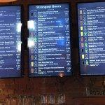 Entrance, menus, draught beer display, my gumbalaya