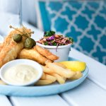 Fish and Chips with Stone & Wood Beer Batter