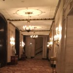 A view of the hallway by the Registration Room in the Palmer Hotel