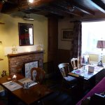 One of the cosy rooms for diners, with a real fire in the winter