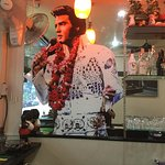 Pic of Elvis at the bar area