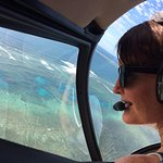 Denise loved seeing the reef from the air ... she lives in Port Douglas