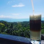 Startung the day with a freshly made ice coffee