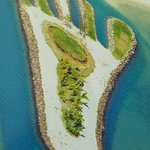 Famous Foot Island on reclaimed land.