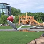 Up close pic of Spoon Bridge w/Cherry, the main sculpture in the park.