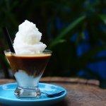 🌴 COCONUT COFFEE🌴 - Espresso, sweetened condensed milk, coconut milk, etc.