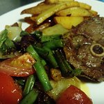 Roast Lamb Fillet with Rosemary and Chef-Ragout with Potatoes