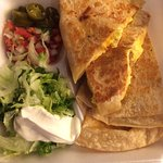 Breakfast quesadilla with sausage