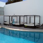 Pool and four poster loungers