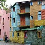 Colorful bldgs in El Caminito of La Boca area Buenos Aires