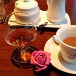 Coffe & Brandy with table decoraton