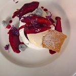 Blackcurrant & Nectarine Pavlova with chantilly cream
