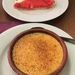 Crème brûlée et tarte praline