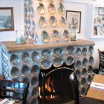 Gorgeous Abalone Fireplace
