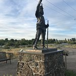 Monument for Henry - overlooking the greenway