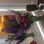 Beautiful flowers in lobby