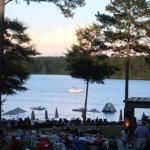 Summer concert series on the lawn with lake views