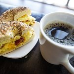 Excellent breakfast sandwiches - made with locally sourced bagels.