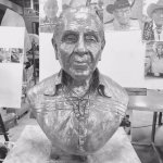 .Alan just finished sculpting Joe Medicine Crow who died recently at age 102. He was the last Cr