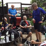 cyclists recently completing the radnor ring