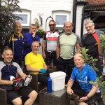 The group of cyclists having completed the radnor ring