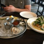 Appetizers-Mussels and a large crab cake