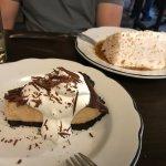 Coconut cream cake and chocolate peanut butter tart yum!