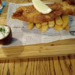Fish and Chips on a Wooden Board!