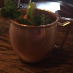 Enjoy a refreshing Moscow Mule with fresh lime and mint!