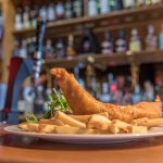 Fish and chips in The General's Bar