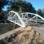 The bridge/ road across the Arkansas River in back of the hotel. Nice, quiet road to take a walk