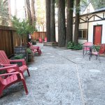 Back patio where our courtyard rooms are located.