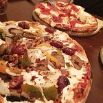 Brick Oven Pizzas: Vegetarian and Pepperoni