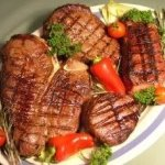 Grilled NY Strip Steak, Sirloin Steak and Filet Mignon