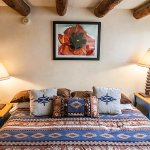 Comanche suite at Pueblo Bonito bed and breakfast inn. Why not experience historic Old Santa Fe?