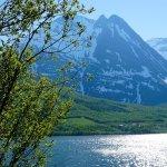 Driving around Tromso fjords