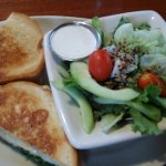 This special salad accompanied the delicious tuna melt. I did have to ask them to add more tuna.