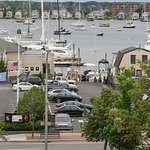 View of Newport Harbor from the Captain's Quarters at the Almondy Inn.