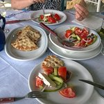 Greek salad with pita every time tasted different .