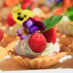 Berry Tart with Flower Petal Garnish