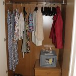 Wardrobe (open) & Safe