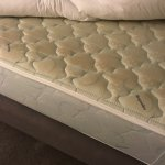 Filthy 1970s mattress with absolutely no support