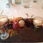 Dessert Gourmand - tasting platter with so many mouth watering items & macchiato