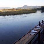 Breakfast overlooking the Zambezi at sunrise