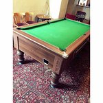 Pool table available for all, 50p per game