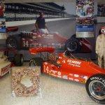 A corner of the Foyt car gallery.