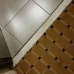 Carpet leading to bathroom