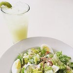 House-made sodas. Chopped salad with local free range turkey.