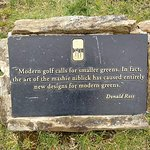 plaque on golf course